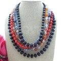6S Carnelian Jade Agate Crystal Pendant Necklace
