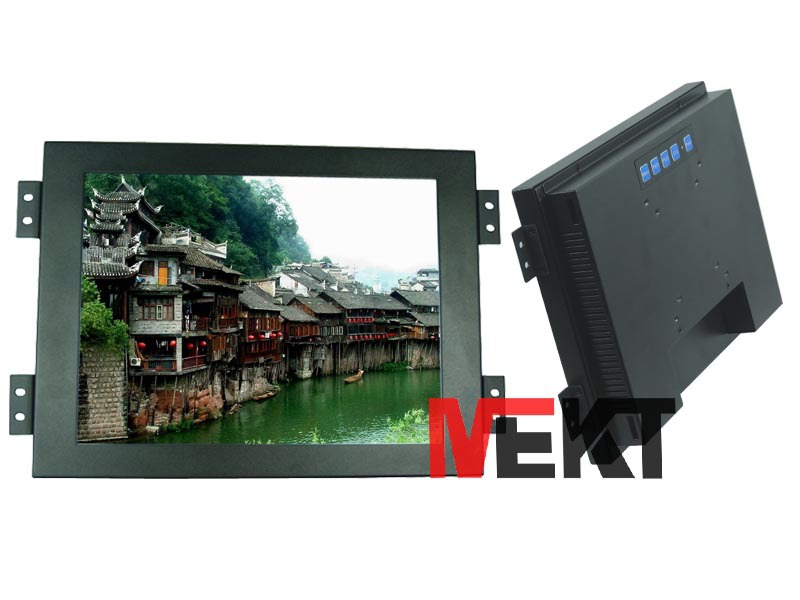 12-inch monitor for industrial equipments,800 * 600 resolution with HDMI and VGA inputs