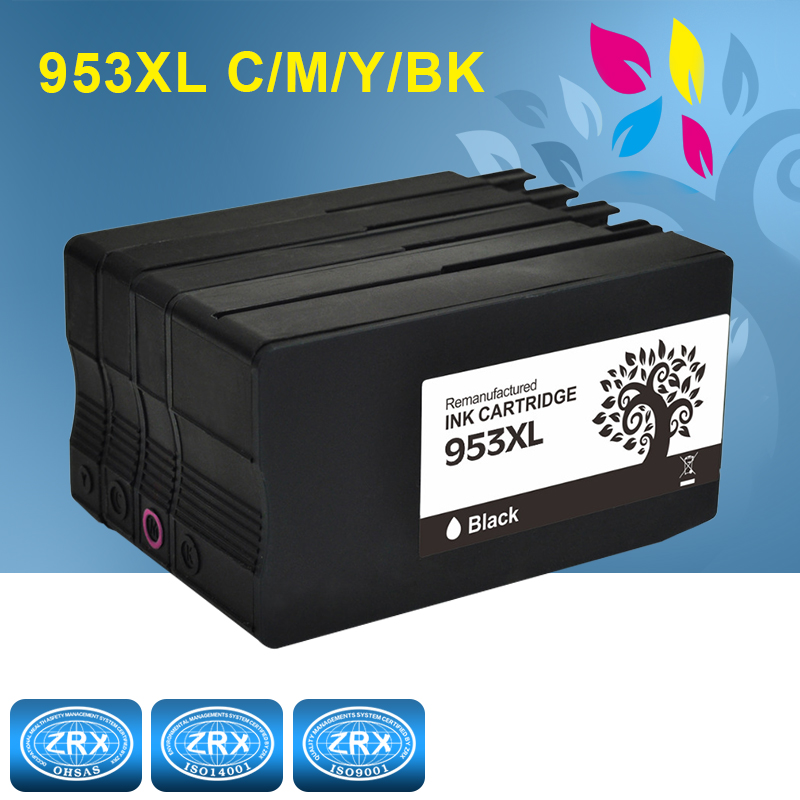 4Pack Remanufactured For HP 953 XL Ink Cartridges For Officejet Pro 7740 8210 8216 8218 8710 8715 8718 8719 8720 8725 8727 8728 струйный принтер hp officejet pro 8210