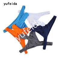 Yufeida 5 قطعة/الوحدة ملخصات مشروط مثير الرجال ثونغ غاي زوجين الفيل الجذع الانتفاخ الحقيبة تنجا الغريبة سراويل حزام الوقاية