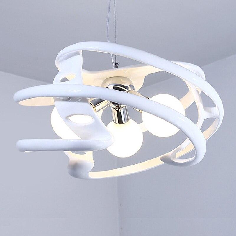 Nordique moderne pendentif lumière pour salon éclairage E27 85-260 V
