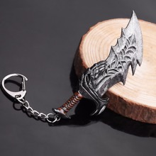God Of War 4 Keychain Kratos Axe Demon knife Weapons Model Key Chain Chaveiro Men Cosplay Jewelry game god of war keychain olympus kratos metal key rings blades of chaos kids gift chaveiro key chain jewelry ys10927