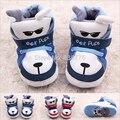 2015 New Hot Bebê Recém-nascido Meninos Meninas Sapatas Dos Miúdos Bonitos Rocha dos desenhos animados Cão Filhotes Infantis Criança Prewalker Sapatos Acolchoados de Algodão botas