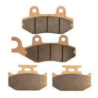 Motorcycle Front and Rear Brake Pads for SUZUKI DR 350 DR350 SET/SEV 1996 1997 Sintered Brake Disc Pad