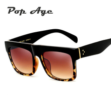 Pop Age Wholesale Brand Designer Square Sunglasses Women Celebrity Kim Kardashian Sun glasses Lentes de sol (A lot 3 Pieces)