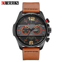 CURREN Men Watch Luxury Brand Army Military Watch Leather Sport Watches Quartz Men Waterproof Wristwatch Relogio