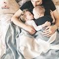 Kamimi Kniting Conejo Recién Nacido Del Bebé Manta Swaddle Blanketes de Dormir Ropa de Cama 73*105 cm Precioso Toallas Manta