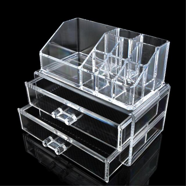 7af55fd951e9 US $5.17 47% OFF|Cosmetic Makeup Jewelry Lipstick Brush Ring Clear Acrylic  Case Organizer Drawers Jewelry Storage Acrylic Cabinet Box-in Jewelry ...