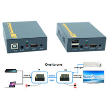 IP Network 1080P USB HDMI KVM IR Extender 500ft Over TCP IP USB Keyboard Mouse KVM