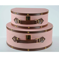 Pink half round suitcase handbag cosmetic case storage box children's room decoration cutting dies fidget spinner wedding