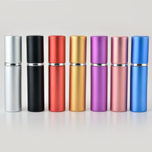 Hot Sale 5 ML Portable Refillable  Glass Perfume Bottle With Aluminum Sprayer Empty Cosmetic Parfum Vial For Traveler