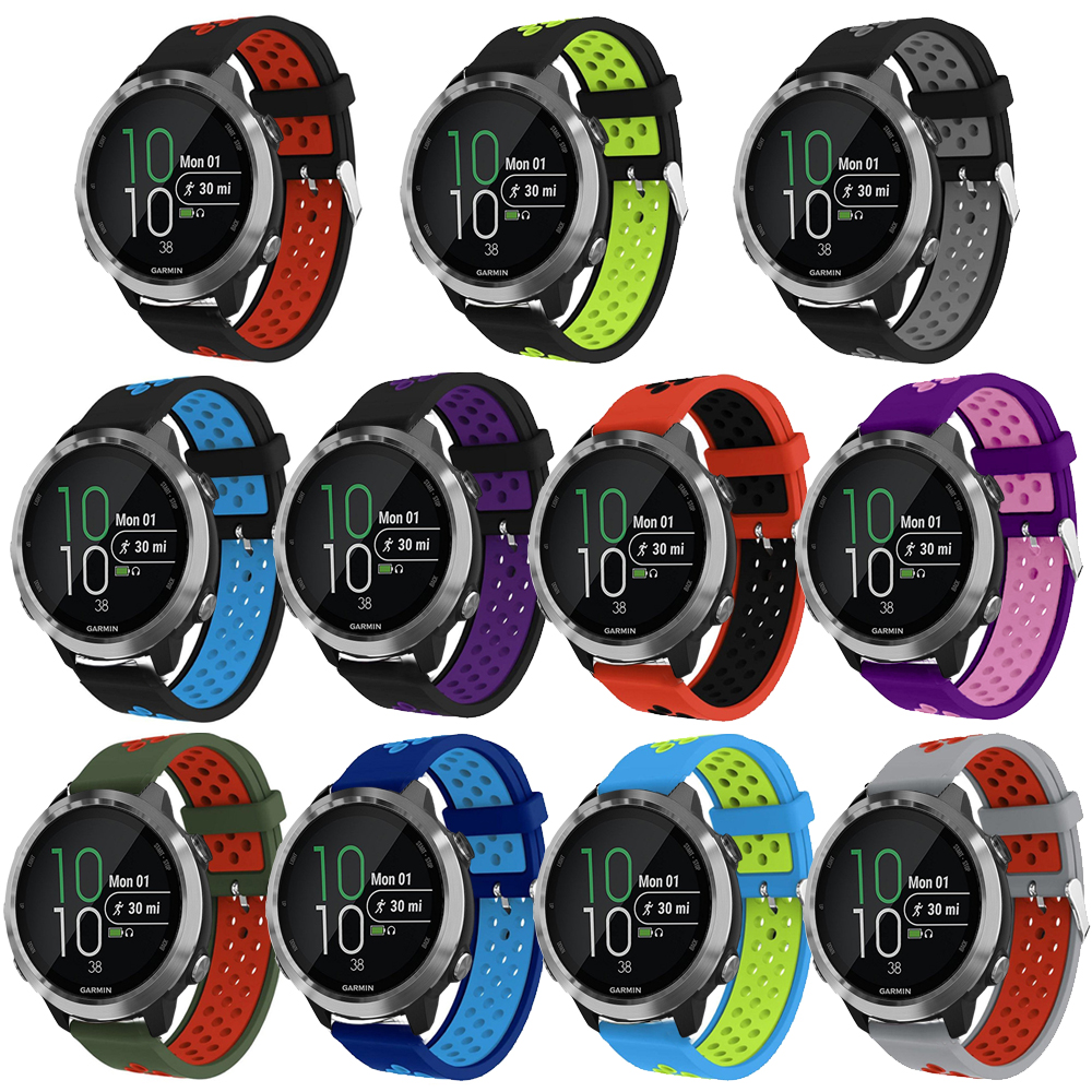 20mm Replacement Sport Silicone Strap for Garmin Forerunner 645 Music band bracelet wrist bands watch accessories Buckle strap