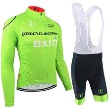 Bxio pro cycling team establece ciclismo ropa de hombre verano verano verde bike ropa de manga larga de desgaste de ciclo baratos bx-0209g-011