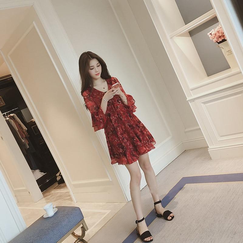 Fashion women elegant high quality dress new arrival summer plus size v-neck temperament sleeveless print mini a-line dress 4