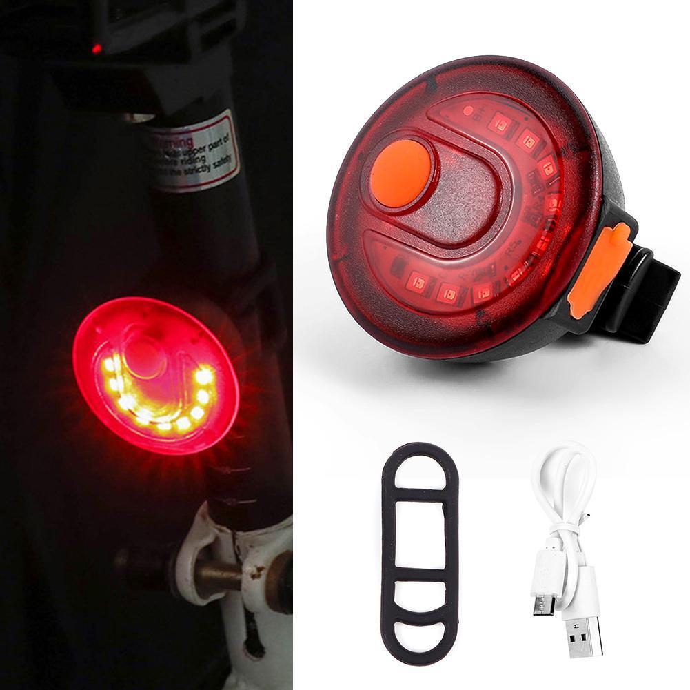 Bicycle Light LED Taillight Safety Warning Light 9 LED Lamp On For Night MTB Bike Rear Light Tail Light Lamp Clip 360 Rotation