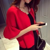 N40780 Autumn 2018 Spring Sweater Cardigan Female Twist Loose Sweater Thick Half Sleeve Fashion women cardigan