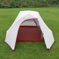 New 3 Person ultralight silicon coated aluminum pole double layer tents waterproof outdoor Camping Tent