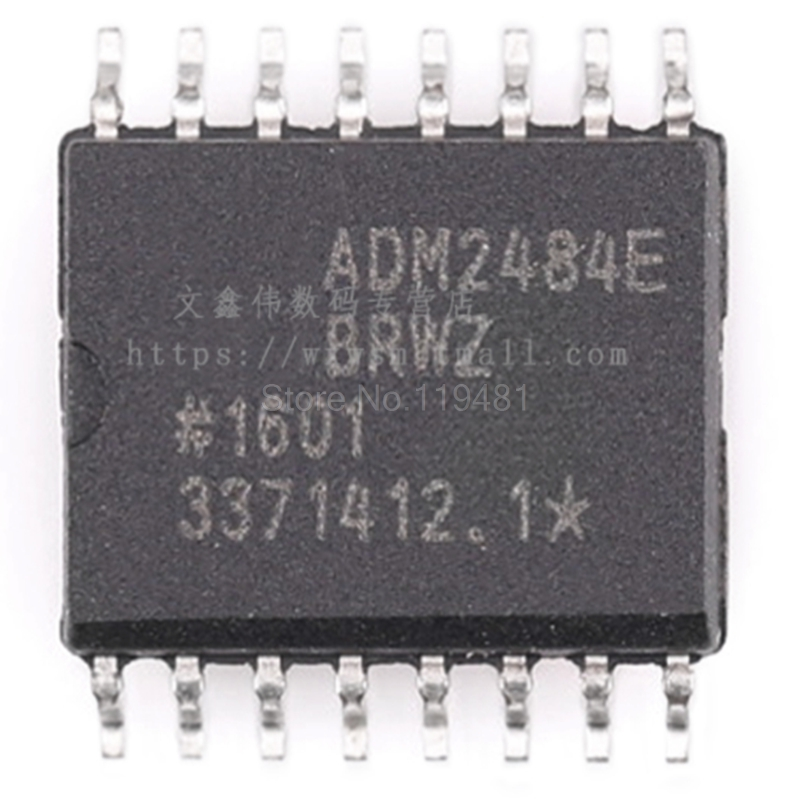 ADM2484EBRWZ RS422 RS485 Digital Isolator 5000Vrms 3 Channel 500kbps 25kV CMTI 16 SOIC