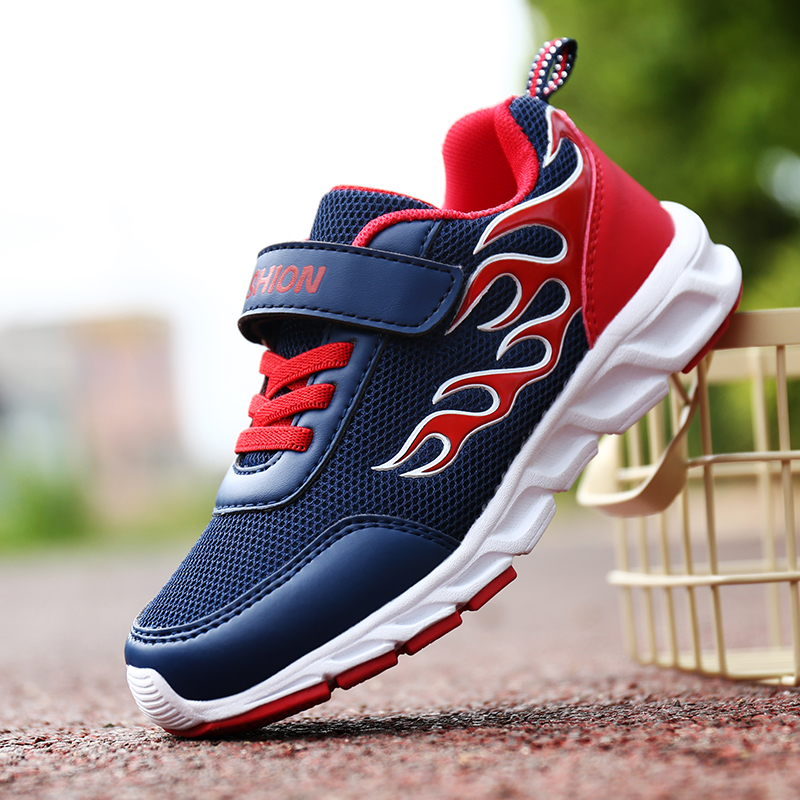 ULKNN Spring Autumn Kids Shoes For Boys Sneakers Children Shoes Breathable MD Anti-Slip Boys Casual Shoes School Sport Run цена
