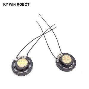 Image 2 - 2 ピース/ロット新超薄型おもちゃの車ホーン 8 オーム 0.25 ワット 0.25 ワット 8R スピーカー直径 27 ミリメートル 2.7 センチとワイヤー