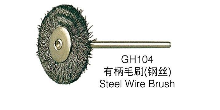 100pcs of Steel Wire Brush Polishing Wheel for Rotary Tools, Polishing Brush Shank 2.35mm