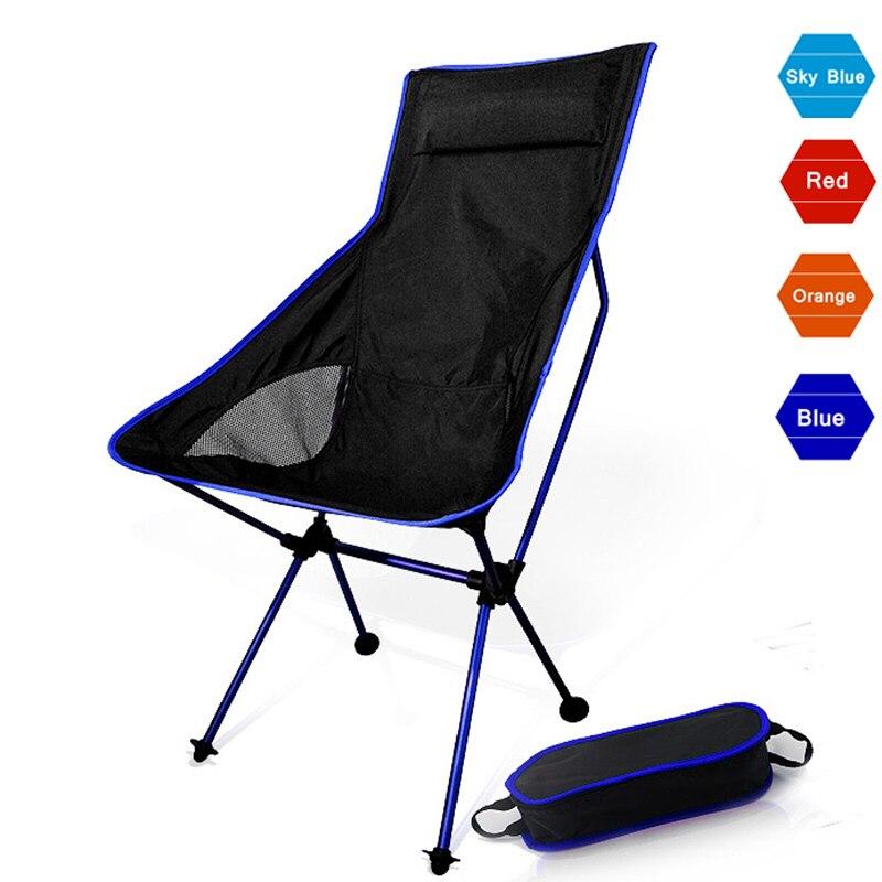 Portátil plegable Luna Silla de Camping pesca barbacoa plegable de taburete de senderismo de jardín con asiento ultraligero oficina muebles para el hogar