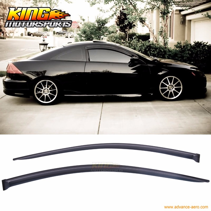 Painted For 2006-2007 HONDA ACCORD 2D COUPE-Rear Window Roof Spoiler Black