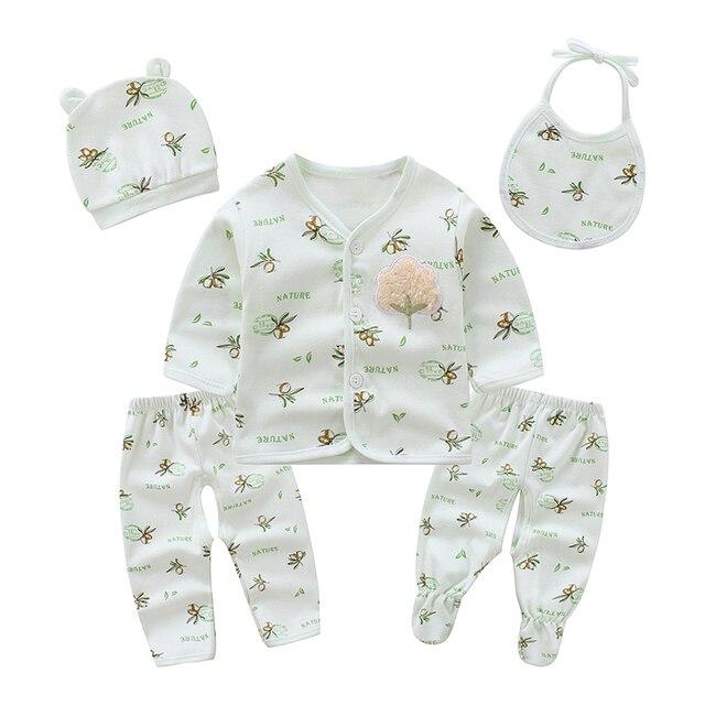 7a2c765dfca4c Baby cotton thin baby underwear five-piece set 0-3 month boy baby suit