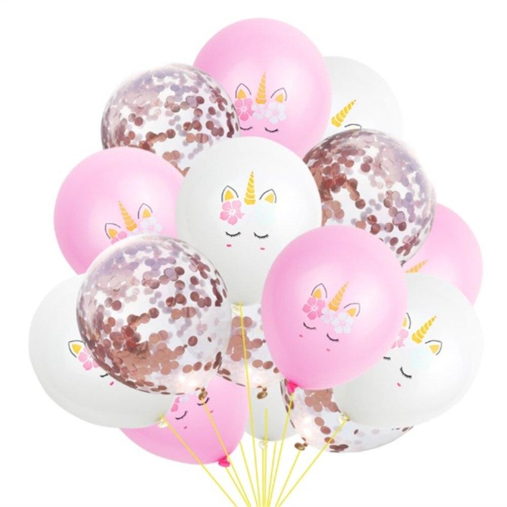 15pcs Gold Confetti Balloon Wedding Birthday Balloons Happy Birthday ...
