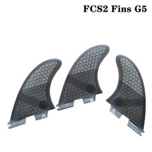 FCSII G5 M Size Surfboard Blue/Black/Red/Green color Honeycomb Fins Tri fin set FCS 2 Fin Hot Sell FCS II Fin Quilhas fcsii g5 m size surf fins surfboard orange honeycomb fins fcs 2 carbon firbe fin new design fcs ii quilhas
