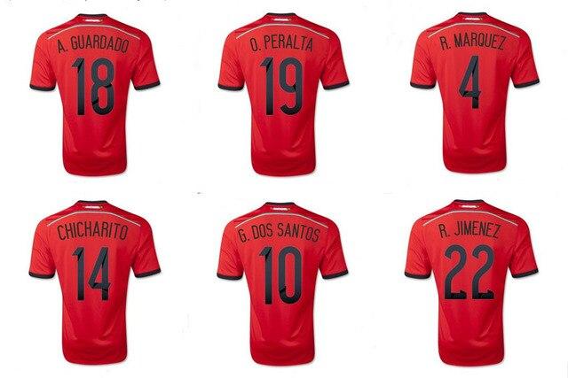 2014 brazil world cup mexico away soccer jerseysmarquez peralta jimenez guardado dos santos chichari