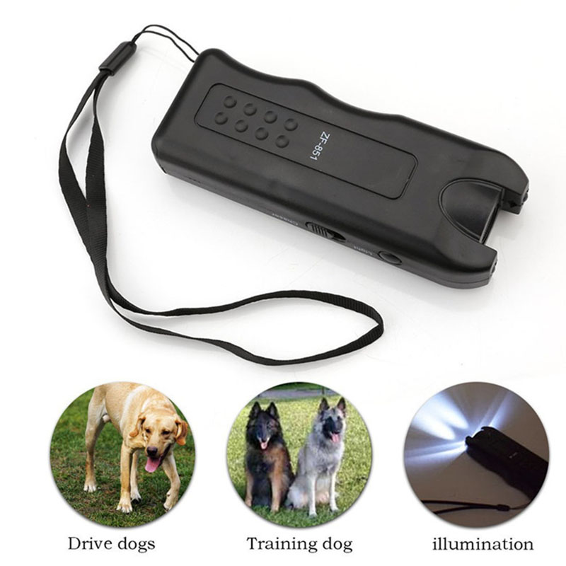 Self Defense Supplies Portable Ultrasonic Dog Chaser Stops Animal Attacks Personal Defense Dog Ultrasonic Drive Training Guide