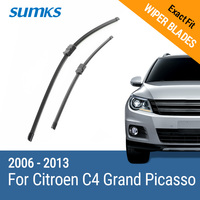 Free Shipping Sumks Framless Wiper Blade For Citroen Old C4 Grand Picasso Soft Rubber 32 30