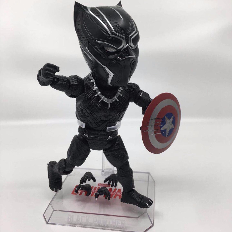 купить Cute 18cm ToysPark Marvel Beast Kingdom Black Panther Action Figure Captain America Civil War Doll Kid Toy Children Fans Gifts по цене 1997.17 рублей