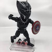 Cute 18cm ToysPark Marvel Beast Kingdom Black Panther Action Figure Captain America Civil War Doll Kid Toy Children Fans Gifts