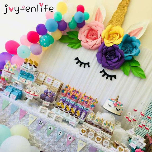 joy enlife unicorn party decoration diy paper flowers 1st birthday
