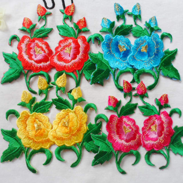 Small Flower Embroidered Patches Vintage Parches Iron on Flowers Patch for Clothing  Women Clothes Diy Appliques cdd070888665