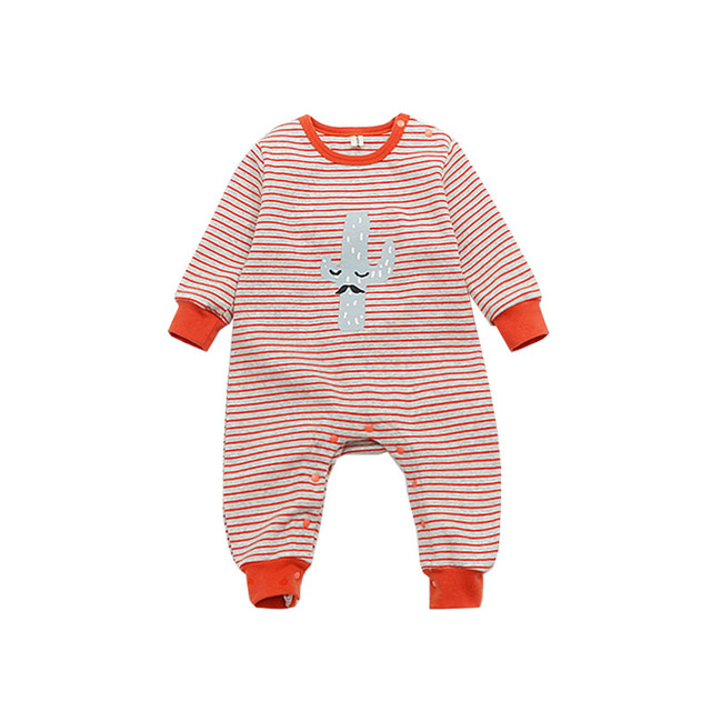 b0d064f7a Spring Newborn Kids Baby Boys Girls Clothes Striped Rompers Warm ...
