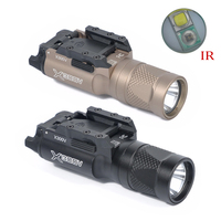 Tactical Flashlight X300 Series X300V IR Flashlight LED Night Vision Weapon Light G17 18 18C Pistol Armas Fit 20mm Rail