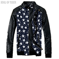 Punk Style Leather Clothing 2017 Skull Patten Men's Bomber Jacket Rivet Casual Military Jackets Men Coat Chaqueta Hombre Hip Hop