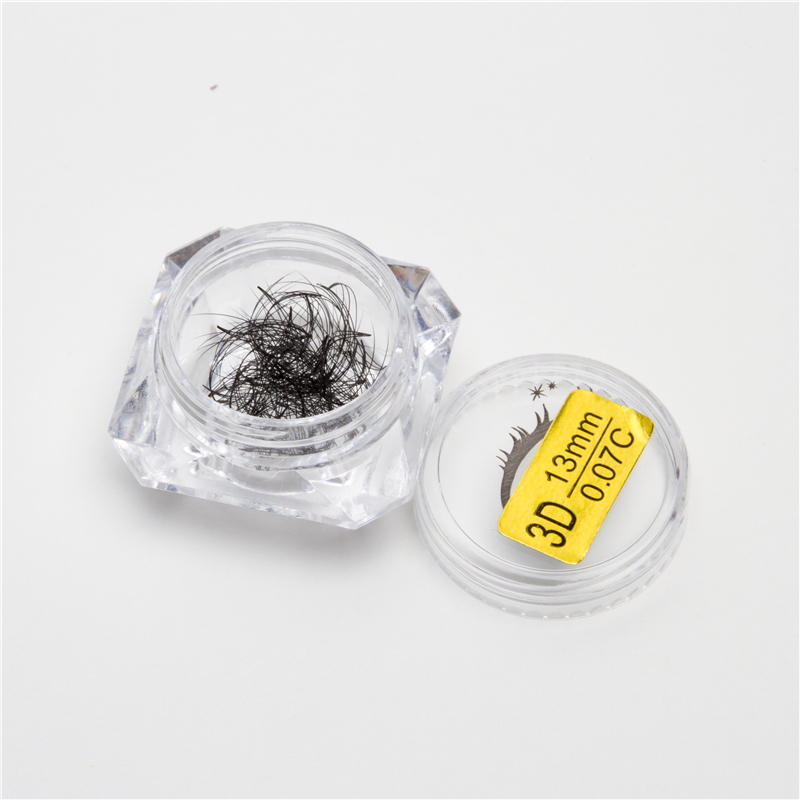 Eyelash extensions pre made 3d volume fans false lashes False Fake Eyelashes Extensions Single Length Loose Lashes Strand