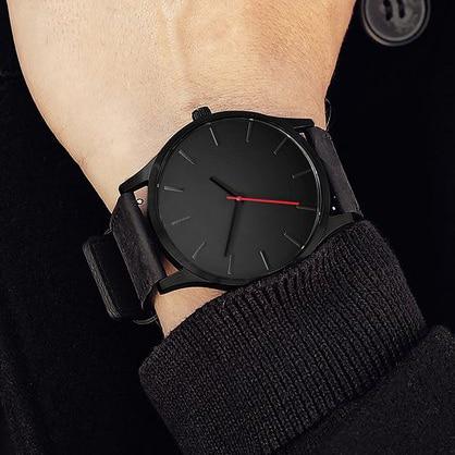 Reloj de pulsera deportivo militar de lujo para hombre, reloj de pulsera de cuero de cuarzo, reloj militar erkek saat, relojes militares