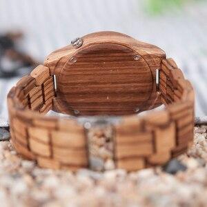 Image 3 - Bobo Vogel Heren Horloges Uurwerken Top Merk Luxe Horloge Alle Zebra Hout Quartz Horloges Voor Mannelijke Als Geschenk V M30