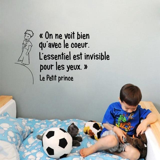 frans de kleine prins quotes vinyl muursticker kinderen jongens kamer slaapkamer prins wall art mural