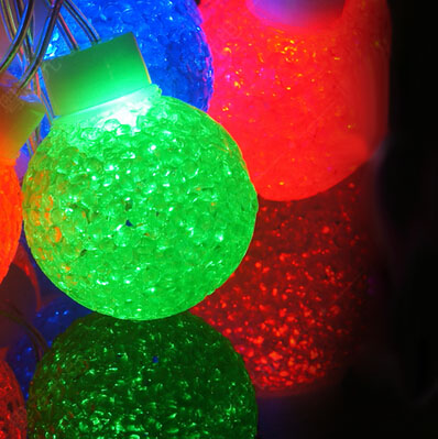 Us 26 0 Fairy 5m 20 Leds Led Crystal Ball String Cristmas Garland Decoration Holiday Party Lights Acrylic Outdoor In Led String From Lights