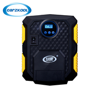 Carzkool 16 8 20cm Digital Display Double Cylinder Inflatable 12V Electric Pump Multi Function Lighting Inflation