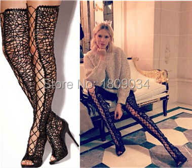 Real Photos !Sexy New Design sexy lace up thigh high gladiator