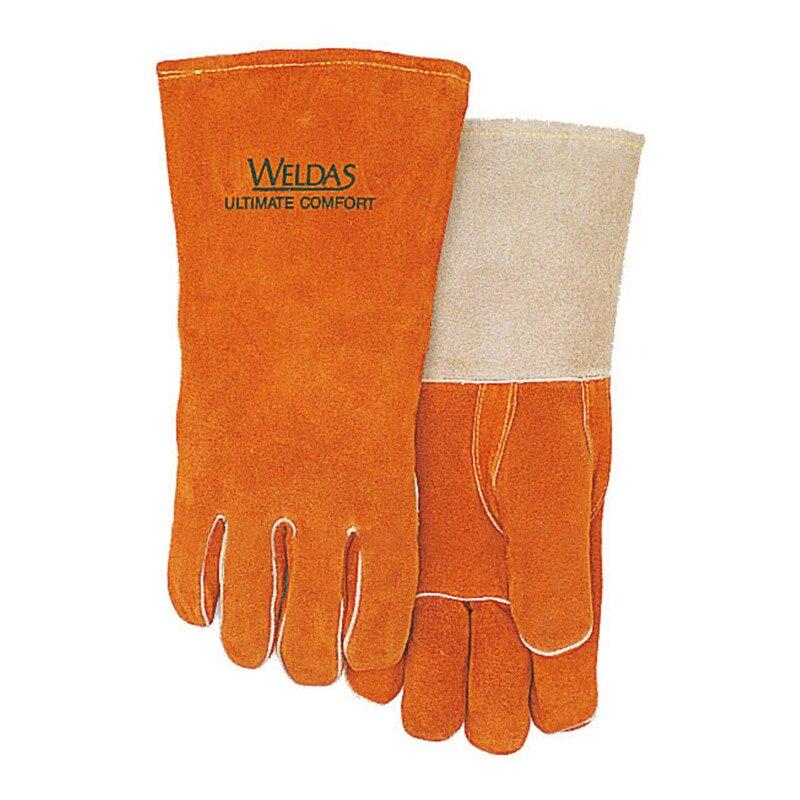 WELDAS 10-0328 Welding Gloves Split Leather High Temperature Insulation Thick Safety Glove Wear Resistance Protective Gloves