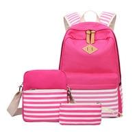 FABREACNDY 3pcs/set Canvas Fringe Women Backpack Student School Bag with Purse Laptop Bagpack Lady School Bag for Teenager Girls