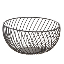 S/L Size Nordic Metal Wire Fruit Storage Basket Countertop Bowl Vegetable Holder Decorative Stand - White /Black